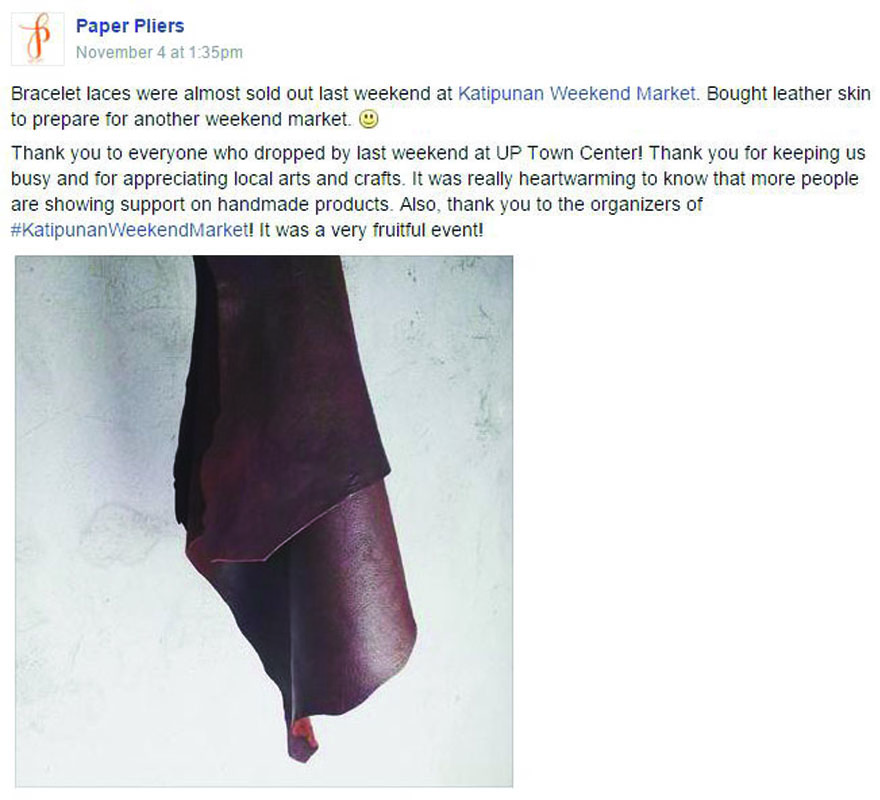 Paper Pliers Facebook post