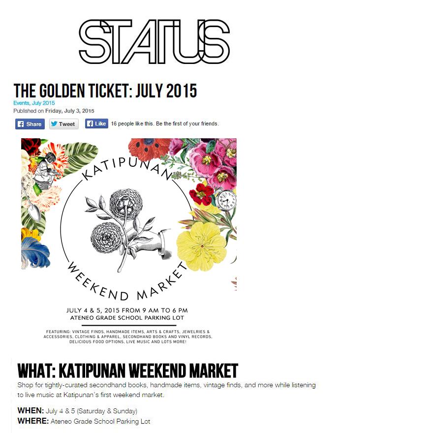STATUS Magazine feature