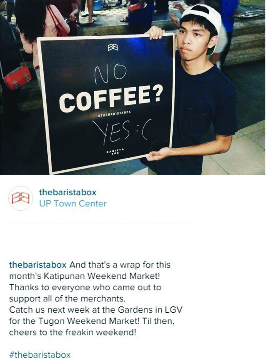 The Barista Box Instagram post