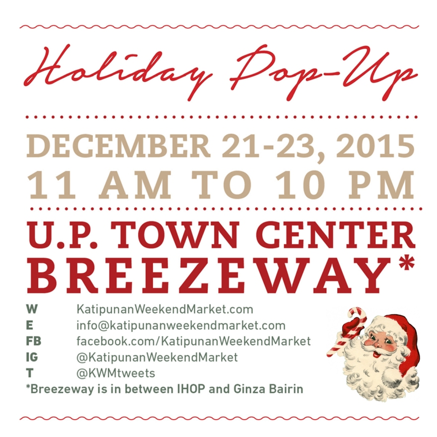 KWM Holiday Pop Up Poster